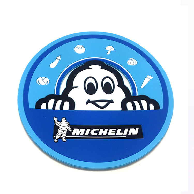 Custom Round Promotional PVC Rubber Coasters for Promotion